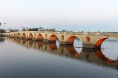 Ponte Edirne Turquia de Meriç imagem de stock