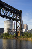 Ponte em Cleveland fotos de stock