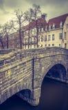Ponte em Europa - Bruges velhas fotografia de stock royalty free