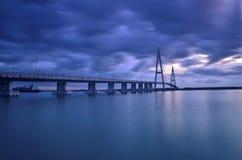 Ponte em malaysia e em nuvens Fotos de Stock Royalty Free