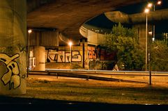 Ponte em a noite Fotografia de Stock