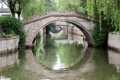 Ponte em Shaoxing, China Fotografia de Stock Royalty Free