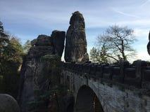 Ponte em Suíça saxão Alemanha, Saxony Imagem de Stock Royalty Free