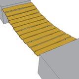 Ponte em um fundo branco quadriculação 3 Imagem de Stock Royalty Free