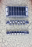 Ponte em uma guitarra elétrica Fotografia de Stock Royalty Free