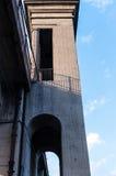 Ponte em vários níveis da estrada e do trilho sobre o rio Foto de Stock Royalty Free