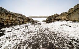 Ponte entre continentes fotografia de stock