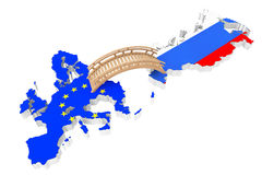 Ponte entre Europa e Rússia foto de stock royalty free