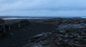 Ponte entre os continentes, Islândia foto de stock royalty free