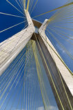 Ponte Estaiada. Octavio Frias de Oliveira bridge in Sao Paulo, Brazil (one of the city landmarks Stock Photo