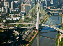 Ponte Estaiada - São Paulo - Brasilien stockbild