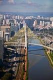 Ponte Estaiada - São Paulo - il Brasile immagine stock