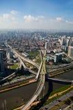 Ponte Estaiada - São Paulo - le Brésil Photo stock
