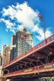 A ponte famosa da avenida de Michigan fotos de stock royalty free