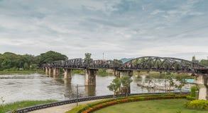 Ponte famosa de Kwai dentro fotografia de stock royalty free