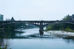 Ponte famoso a Bassano del Grappa, Veneto, Italia Immagini Stock