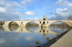 Ponte famoso di Avignone Fotografie Stock Libere da Diritti
