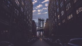Ponte famoso di Manhattan di dumbo di New York Brooklyn immagine stock libera da diritti