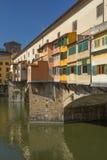 Ponte famoso di Ponte Vecchio a Firenze Fotografia Stock Libera da Diritti