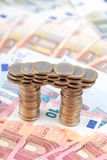 Ponte feita das moedas Imagem de Stock