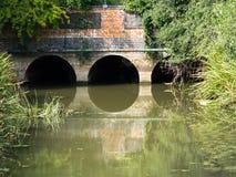 Ponte ferroviario Immagini Stock