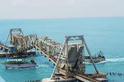 Ponte ferroviario del mare Fotografia Stock Libera da Diritti
