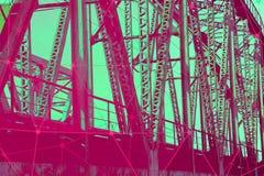 Ponte ferroviario del metallo fotografia stock libera da diritti