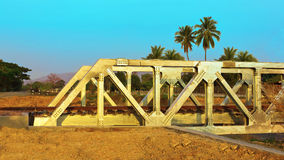 Ponte ferroviario del metallo Immagini Stock Libere da Diritti