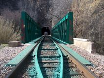 Ponte ferroviario di Ron Immagine Stock