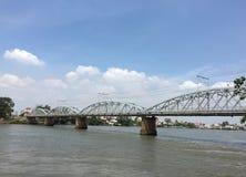 Ponte ferroviario nel Vietnam immagine stock libera da diritti