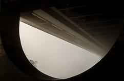 Ponte ferroviario nella nebbia Immagine Stock Libera da Diritti