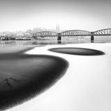 Ponte ferroviario, Praga, repubblica Ceca Immagini Stock