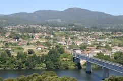 Ponte fra la Spagna ed il Portogallo Fotografie Stock Libere da Diritti