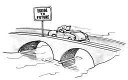 Ponte a futuro illustrazione di stock