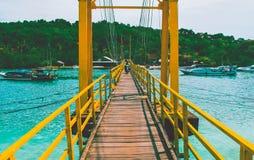 Ponte giallo, Bali Fotografia Stock Libera da Diritti