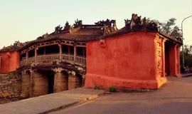 Ponte giapponese in Hoi An Vietnam fotografia stock