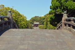 Ponte giapponese tradizionale Immagine Stock Libera da Diritti