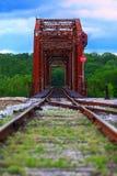Ponte giratória velha Fotos de Stock