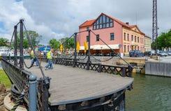 Ponte girevole lavorato, Klaipeda, Lituania Fotografie Stock Libere da Diritti