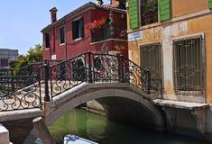 Ponte Giustinian, Venedig Arkivfoto