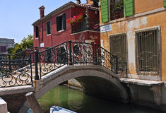 Ponte Giustinian, Venise Photo stock