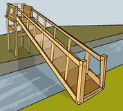 A ponte gosta da estrutura Foto de Stock Royalty Free