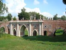 Ponte grande sobre a ravina no parque de Tsaritsyno Fotografia de Stock Royalty Free