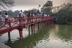 Ponte Hanoi di Sunbeam fotografie stock libere da diritti