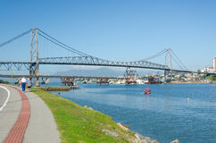 Ponte Hercilio Luz fotografia stock libera da diritti