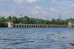 Ponte hidroelétrico Fotos de Stock Royalty Free