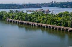 Ponte hidroelétrico Fotografia de Stock Royalty Free