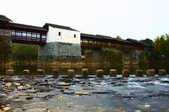 Ponte histórica chinesa, Wuyuan China Imagem de Stock Royalty Free