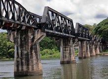 Ponte histórica de Kwai do rio; Fotografia de Stock