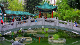 Ponte Hong Kong di Yuen Wong Tai Sin Temple del sik di Sik fotografie stock libere da diritti
